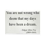 Edgar Allan Poe 23 Rectangle Magnet (10 pack)