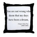 Edgar Allan Poe 23 Throw Pillow