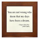 Edgar Allan Poe 23 Framed Tile