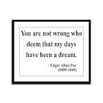 Edgar Allan Poe 23 Framed Panel Print