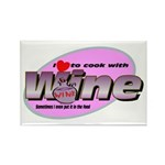 I Love Wine Rectangle Magnet (100 pack)