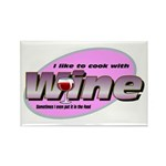 I Love Wine Rectangle Magnet (10 pack)