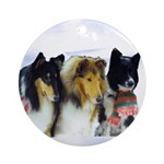 Trio at Christmas Ornament (Round)