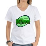 I Love Wine Women's V-Neck T-Shirt
