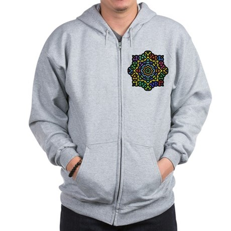 Colorful Knotwork Zip Hoodie