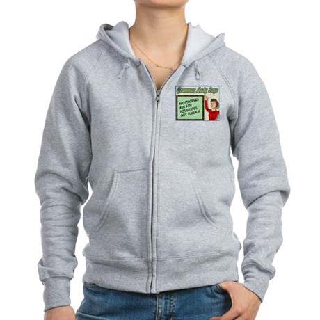 Apostrophes are for Possessiv Women's Zip Hoodie