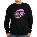 I Love Wine Sweatshirt (dark)