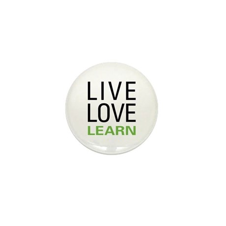 Live Love Learn Mini Button (10 pack)