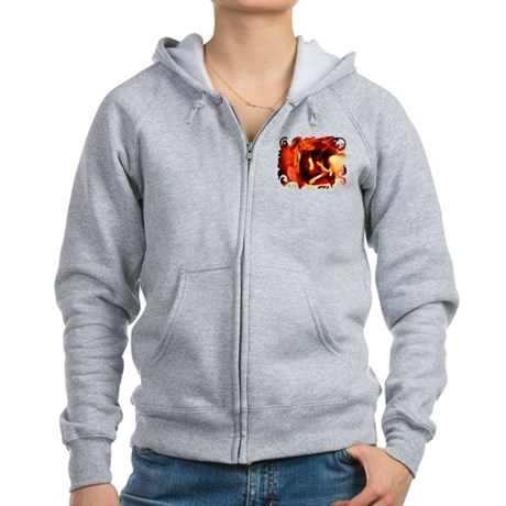 Painted Rose Women's Zip Hoodie