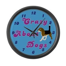 Crazy About Dogs Large Wall Clock