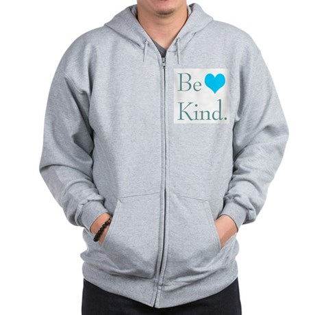 &quot;Be Kind&quot; with a heart. Zip Hoodie