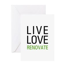 Live Love Renovate Greeting Card