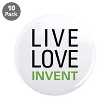 "Live Love Invent 3.5"" Button (10 pack)"