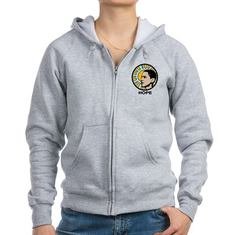 Obama Sun Hope Women's Zip Hoodie