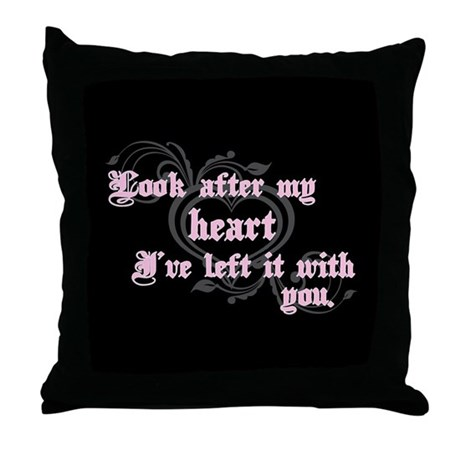 Edward Heart Twilight Throw Pillow