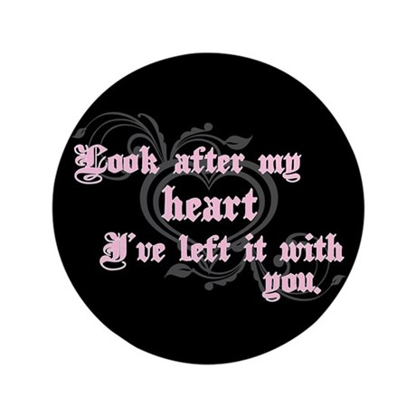 "Edward Heart Twilight 3.5"" Button"