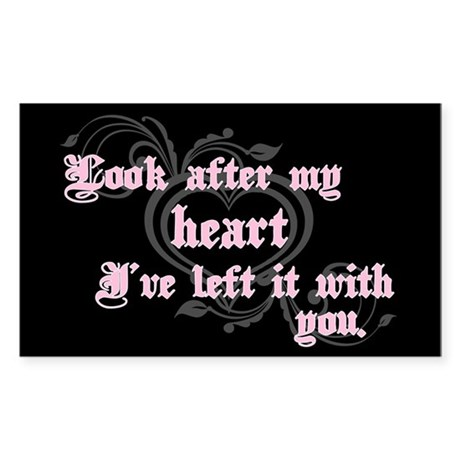 Edward Heart Twilight Rectangle Sticker 10 pk)