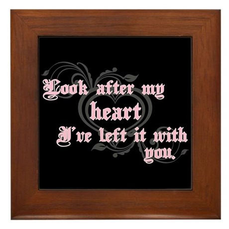 Edward Heart Twilight Framed Tile