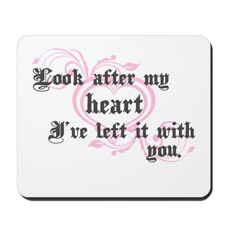Edward Heart Twilight Mousepad