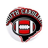"South Carolina Football 3.5"" Button"