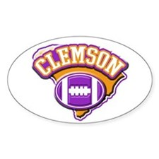 Clemson Football Oval Decal