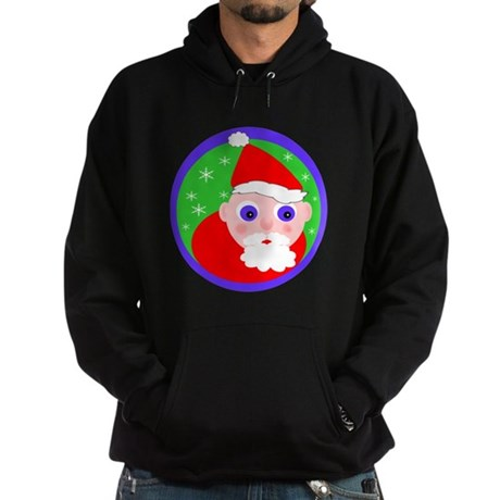 Santa Cartoon Hoodie (dark)