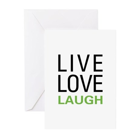 Live Love Laugh Greeting Cards (Pk of 20)