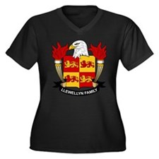 Llewellyn Family Crest Women's Plus Size V-Neck Da