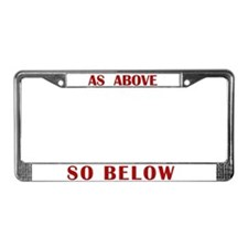 As Above License Plate Frame