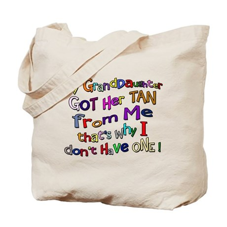 My Granddaughter got her Tan Tote Bag