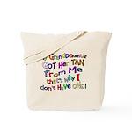My Granddaughter got her Tan Tote Bag