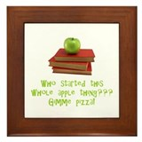 Teacher's Apple Framed Tile