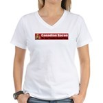 Canadian Bacon Women's V-Neck T-Shirt