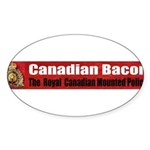 Canadian Bacon Oval Sticker (10 pk)