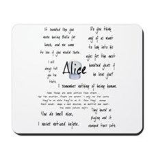 Alice Quotes Mousepad