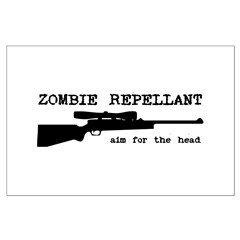 Zombie Repellant Rifle Posters