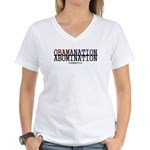 OBAMANATION Women's V-Neck T-Shirt