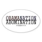 OBAMANATION Oval Sticker (10 pk)
