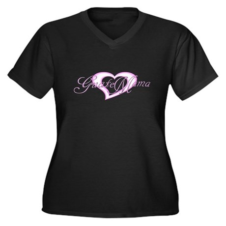 GuateMama 5 Women's Plus Size V-Neck Dark T-Shirt
