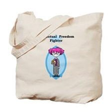 INTELLECTUAL FREEDOM FIGHTER tote bag