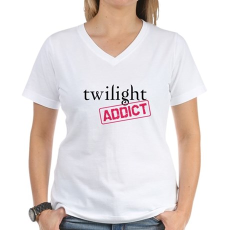 Twilight Addict Women's V-Neck T-Shirt