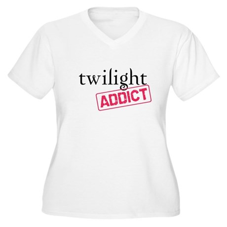 Twilight Addict Women's Plus Size V-Neck T-Shirt
