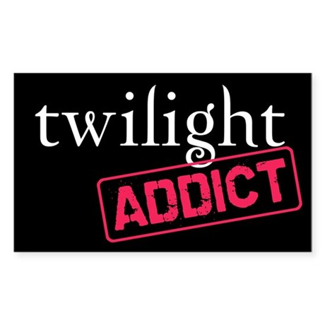 Twilight Addict Rectangle Sticker 10 pk)