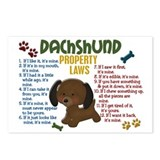 Dachshund Property Laws 4 Postcards (Package of 8)