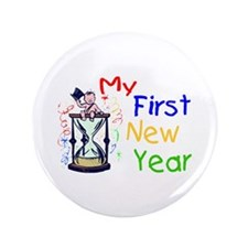 "My First New Year 3.5"" Button"