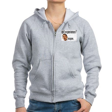 Barack Obama No Experience Women's Zip Hoodie