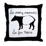 So few Tapirs Throw Pillow