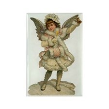 Vintage Christmas Angel Rectangle Magnet