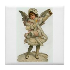 Vintage Christmas Angel Tile Coaster