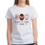 Peace Love Cook Chef Women's T-Shirt